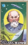 Stamps : Asia : North_Korea :  Tsioikovski y el Universo