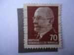 Stamps Germany -  Walter Ulbricht (1893-1973) - Presidente del Consejo de Estado DDR