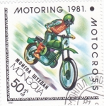 Stamps : Asia : Mongolia :  MOTORING-91-MOTOCROSS