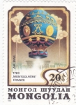 Stamps : Asia : Mongolia :  GLOBO AEROSTATICO