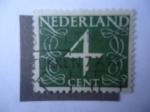 Sellos de Europa - Holanda -  Cifras - Numeral