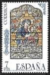 Stamps of the world : Spain :  Vidrieras artísticas - La Virgen y el Niño (Catedral de Sevilla)