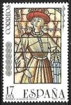 Sellos de Europa - España -  Vidrieras artísticas - Enrique II (Alcázar de Segovia)
