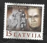 Stamps : Europe : Latvia :  621 - Gunars Astra, defensor del los Derechos del Hombre