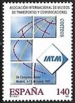 Sellos de Europa - España -  Asociación Internacional de Museos de Transportes y comunicaciones