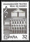 Stamps Spain -  Inauguración del Teatro Real de Madrid