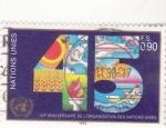 Stamps : America : ONU :  45 ANIVERSARIO ORGANIZACIÓN NACIONES UNIDAS