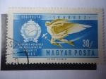 Stamps Hungary -  II Campeonato de vuelo Acrobático - Icarus, frente a los aviones