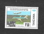 Sellos de Africa - Tanzania -  40ª Aniversario de la Aviación Civil Internacional