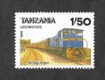 Sellos de Africa - Tanzania -  Locomotora