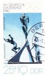 Stamps Germany -  XIII OLIMPIADA LAKE PLACID-80