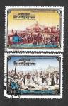 Stamps : Asia : North_Korea :  Mi2493A-2492A - 100º Aniversario del Orient Express