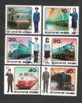Stamps : Asia : North_Korea :  Uniformes de Ferrocaril