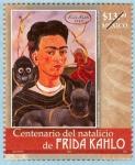 Sellos del Mundo : America : México : Centenario del Natalicio de Frida Kahlo