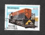 Stamps : America : Nicaragua :  Locomotora
