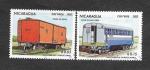 Stamps : America : Nicaragua :  Vagones de Ferrocarril