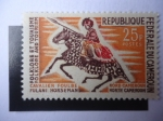 Stamps Cameroon -  Folclor y Turismo - Jinete Fulani -