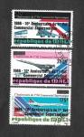 Sellos del Mundo : Africa : Mali : C529-C530-C531 - 10º Aniversario del Primer Vuelo Comercial Supersonico