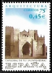 Stamps Spain -  Arquitectura - Catedral de Tui (Pontevedra)