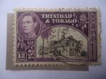 Stamps Trinidad y Tobago -  King George VI - Ayuntamiento, San Fernando
