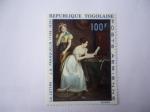Sellos de Africa - Togo -  La Repuesta a la Carta -Oleo de Jean-Augusto Franquelin (1798-1839)