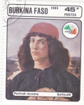 Stamps : Africa : Burkina_Faso :  RETRATO BOTTICELLI