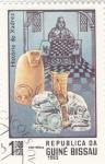 Stamps : Africa : Guinea_Bissau :  HISTORIA DEL AJEDREZ
