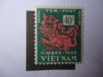 Stamps : Asia : Vietnam :  León del Templo - Timbre- Tax - Postage Due.
