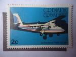 Sellos de America - Granada -  Grana-Granadinas - De Havilland D.H.6 - LIAT (Leeward Islands Air Transport)