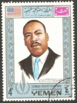 Sellos de Asia - Yemen -  261 - Martin Luther King