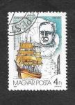 Stamps : Europe : Hungary :  3079 - 75º Aniversario de la Investigación Antartica
