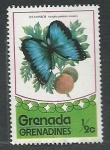 Stamps : America : Grenada :  Mariposa