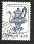 Stamps Hungary -  Plata y hierro fundido,Tetera de plagas, 1846