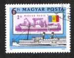 Stamps Hungary -  Comisión del Danubio