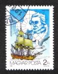 Sellos de Europa - Hungría -  Exploradores del Artíco, James Cook, Albatros errantes (Diomedea exulans)