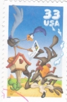 Stamps : America : United_States :  CORRECAMINOS Y EL COYOTE