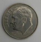 monedas del Mundo : America : Estados_Unidos :  2014 P - one dime