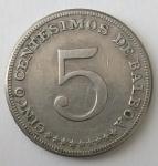 monedas del Mundo : America : Panamá :  1968 - 5 centésimos de balboa