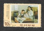 Stamps North Korea -  Infancia de Kim Il Sung