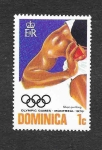 Sellos de America - Dominica -  JJOO de Montreal