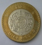 monedas del Mundo : America : México :  2018 - 10 pesos
