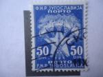 Stamps Yugoslavia -  Antorchas y Estrellas - F.N.R. Jugoslavija - Porto.