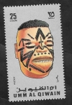 Stamps : Asia : United_Arab_Emirates :  Umm Al Qiwain - Máscara