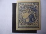 Stamps Ukraine -  Joven Ucraniana - Alegoría Ucrania - Alegorieal Ukraine