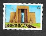sellos de America - Dominica -  Misión Vikinga a Marte
