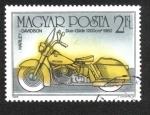 Sellos de Europa - Hungría -  Harley-Davidson Duo-Glide, 1960