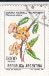 Stamps Argentina -  FLORES- GUARANDAY