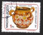 Sellos de Europa - Hungría -  57.o Día de Sell57.o Día de Sello - Porcelana Zsolnayo - Porcelana Zsolnay
