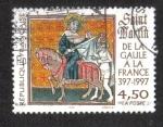 Stamps France -  Historia Francesa, San Martín de la Galia de Francia 397-1997