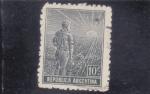 Stamps : America : Argentina :  campesino
